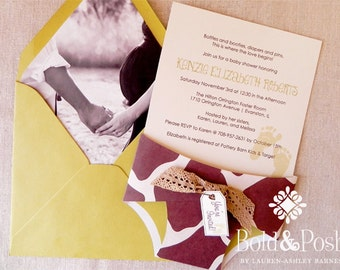 Black & White Photo Envelope Liners