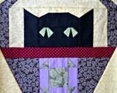 Shoo-Fly Cat Quilt Block Pattern