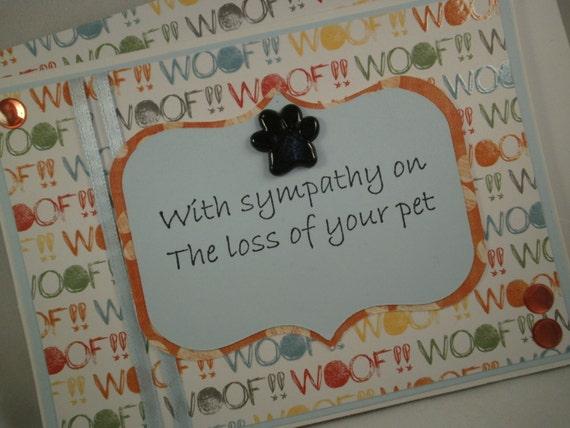 Pet Sympathy - Handmade Card with Embellished Envelope