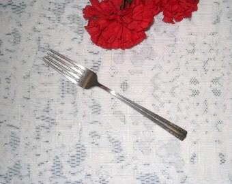 "ALVIN Sterling Pat. 1939 ""Chapel Bells"" 8 Inch Dinner Fork / Free U.S. Shipping"