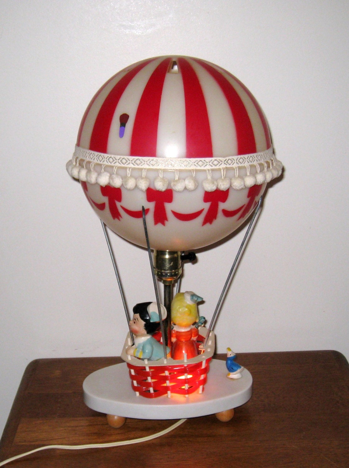 1970s hot air balloon lamp nightlight the dolly toy co. Black Bedroom Furniture Sets. Home Design Ideas