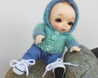 PATTERNS for Knitted Hoodie and Sewn Pants for Nappy Choo dolls.
