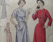 Fabulous Vintage 40's  Misses' HOUSECOAT Or BRUNCHCOAT PATTERN Two Lengths