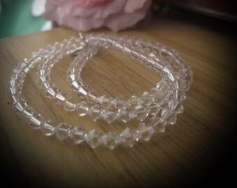 Original SWAROVSKI Sparkling White Crystals Necklace, Vintage