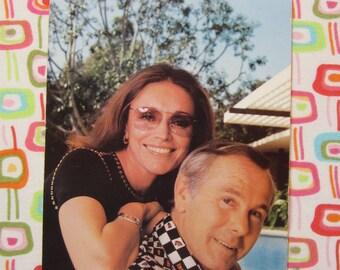 Vintage Johnny Carson and Wife Joanna Postcard
