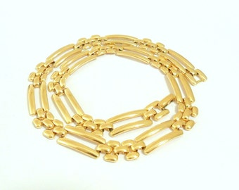 Napier Linked Gold Tone Collar Necklace