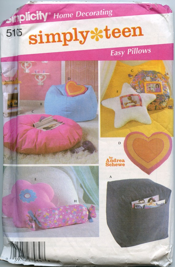 Simplicity 5105 Simply Teen Room Accessories Home Decorator
