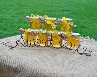 Rustic Bridal Shower Decorations, Boho Chic Decor,  Sweet Love Table Sign