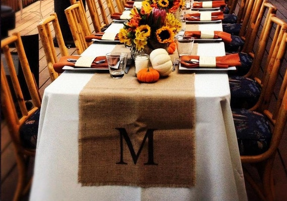 Burlap table runner 18 x 120 by north by northcountrycomforts for 120 table runners