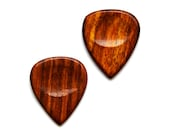 Wood Guitar Pick Cufflinks - Men's Accessories - Handmade - Gift Box Included