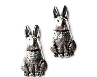 Rabbit Cufflinks - Gifts for Men - Anniversary Gift - Handmade - Gift Box Included