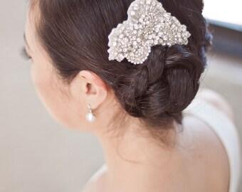 SYDNEY - Beaded Rhinestone Bridal Hairpiece
