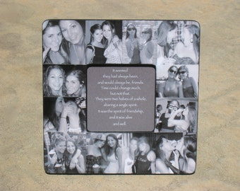best friends photo collage frame personalized sister gift bridesmaid picture frame custom collage maid of honor frame 8 x 8 frame