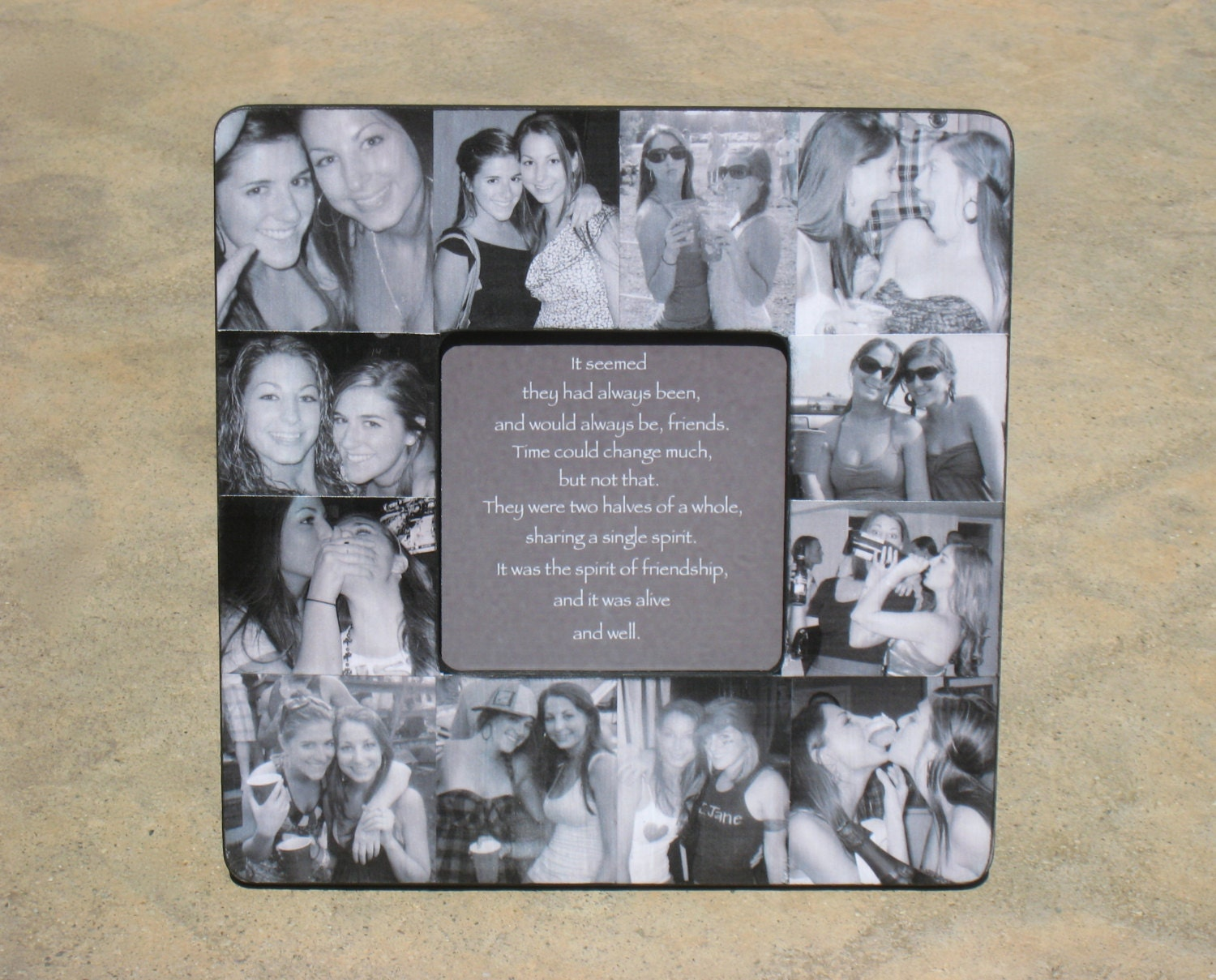 Personalized Sister Gift Bridesmaid Picture Frame Custom Collage Maid Of Honor Frame Bridal