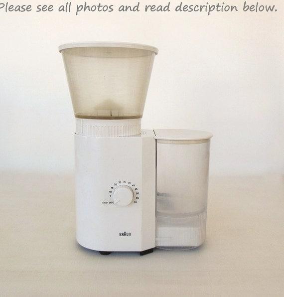 Braun Coffee Grinder ~ Braun coffee grinder burr kmm by