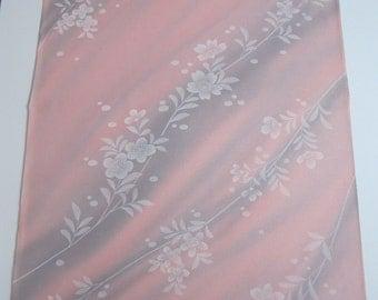 2 yds Pink Japanese Kimono haori Silk, pink and gray silk, pink vintage silk, japanese fabrics, vintage kimonos, haori jacket