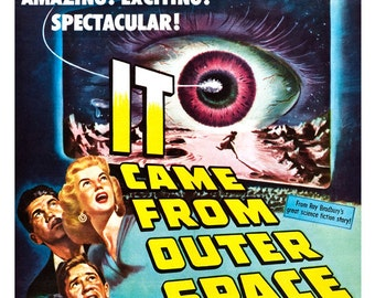 """It Came From Outer Space - Sci Fi Movie Poster Print  13""""x19"""" - Vintage Movie Poster - 50s kitsch - b movie"""
