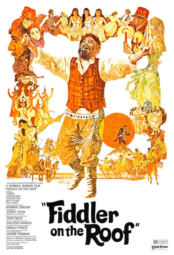 Fiddler On The Roof Movie Musical Poster Print Home By