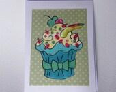 Zombie Cupcake Card