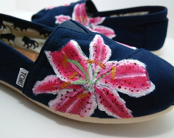 Stargazer Lily - Custom TOMS Shoes