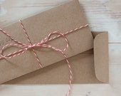 Brown Kraft Envelopes - Open End No. 10 - 50 pc