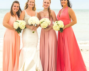 "Glamorous Ombre Bridesmaids Gowns - Full, fabulous, flowing ""Infinity"" style gowns available in hundreds of colors"
