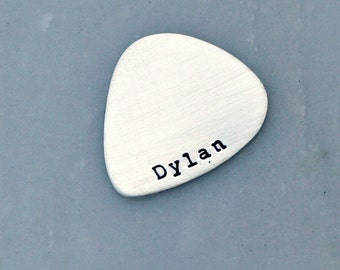 Affordable Fathers Day Gift  -Personalized Guitar Pick - Custom Guitar Pick - Sterling Silver Guitar Pick - Mens Gift