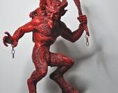 Krampus Statue I, Red Finish