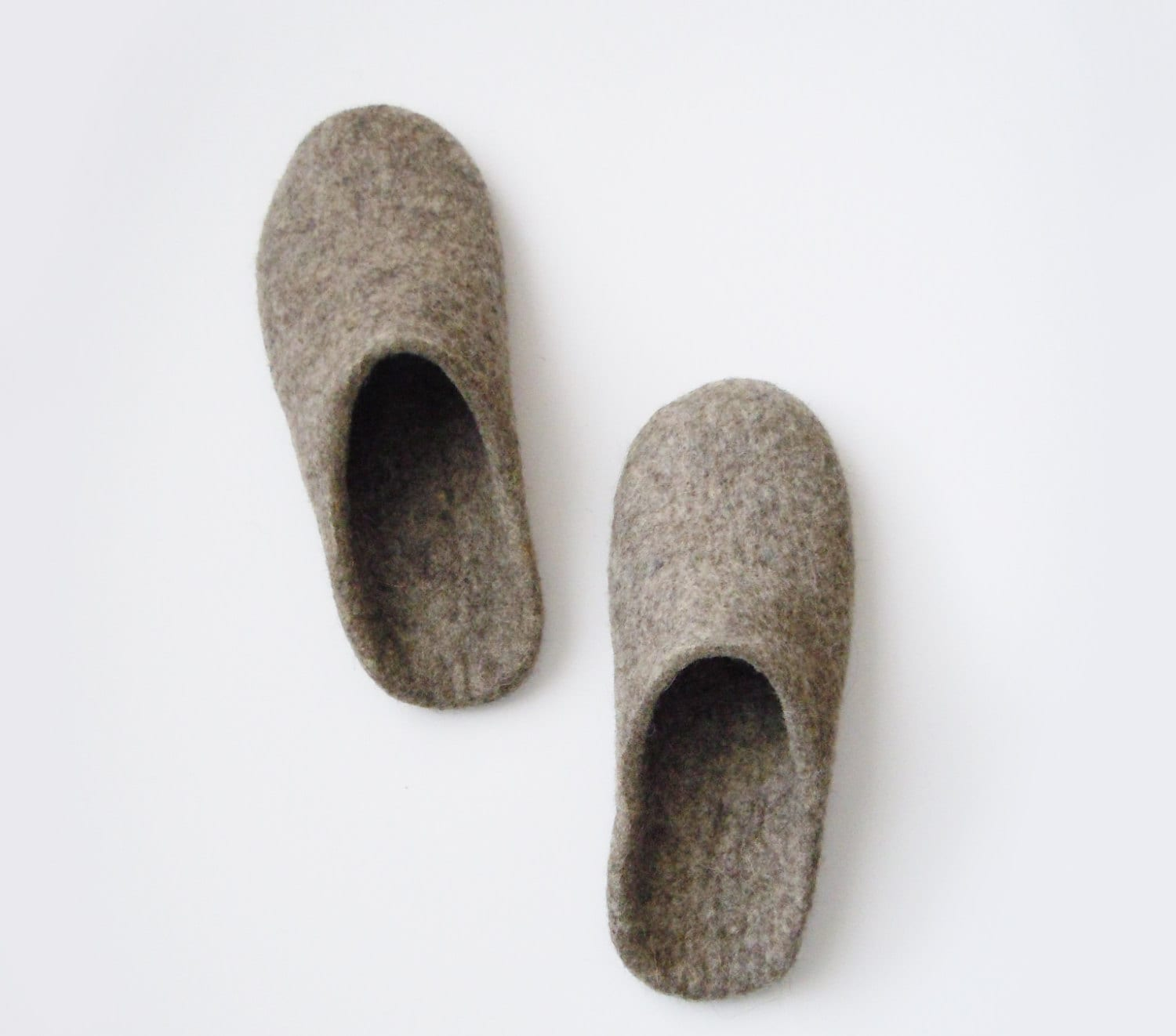 Eco Friendly Slippers: Eco Friendly Backless Felted Men's Slippers