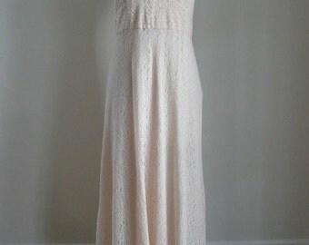 1930's Pale Pink Lace Wedding Dress
