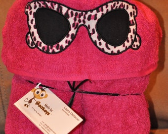 Hooded Towel with Sunglasses