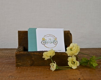 Custom Listing for AGemofAGirl ONLY:  Custom Reclaimed Wood Business Card Display for Portrait Aligned Card