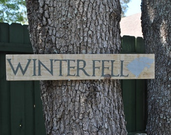 Game of Thrones Winterfell House Stark Outdoor Yard Sign