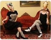 Black Victorian Corset Tshirt - Womens tee - Victorian Corset