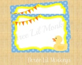 INSTANT DOWNLOAD-Rubber Duck Thank You Card (PDF file)