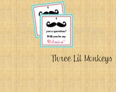 INSTANT DOWNLOAD: Mustache Valentine Tags (DIY Printable)