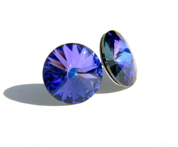 Items similar to heliotrope round earrings purple royal for Fall into color jewelry walmart