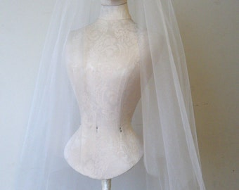 Veil Cindy II, circular veil 2 tier clean edge Elegant