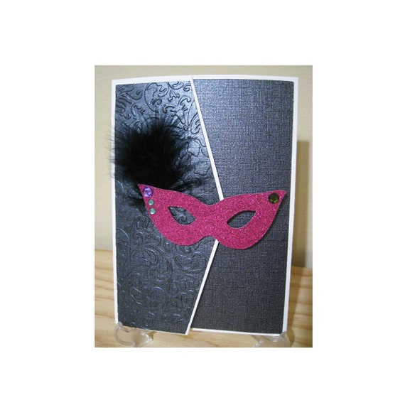 Handmade Custom DIY Masquerade Ball Theme Invitation Kit 5