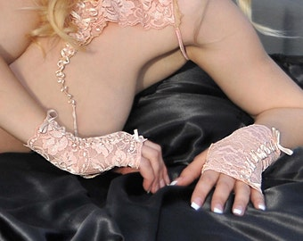 Fingerless Gloves - Lace Gloves - Lace Lingerie