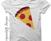 Pizza Iron on Shirt PDF - Food Iron on Transfer / Kids Pizza Party Shirt / Toddler Tshirt / Kids Boys Clothing Tops / DIY Baby Clothes IT5-R