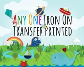 Any One Iron on Transfer Printed and Mailed - For dark colored shirts