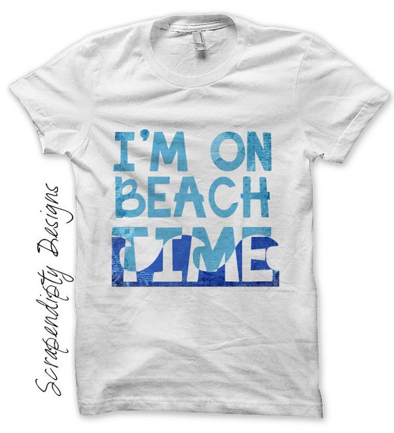Iron on Beach Shirt PDF - Summer Iron on Transfer / Kids Beach House Decor / Toddler Boys Clothes / Womens Ocean Shirt / Ocean Print IT223-C