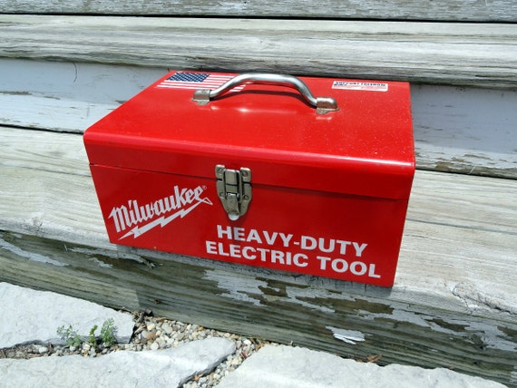 Reserved For Jspann Vintage Milwaukee Tool Box Metal