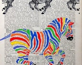 THE WINNER Giclee Print Poster Mixed Media Animal Painting