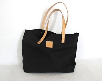 Canvas Tote... SPECIALIZED LABEL...Beach bag sized BLACK tote bag