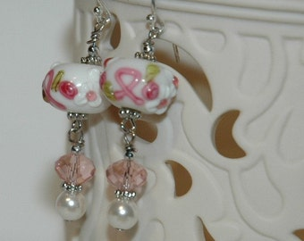 Clearance Sale Pink Ribbon Cancer Awareness Earrings 50% Off