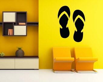 Flip Flops, Flip Flop Decor, Flip Flop Decal, Flip Flop Wall Art, Thongs, Summertime, Thong, Flips, Sticker, Vinyl, Tween, Teen, Home, Dorm
