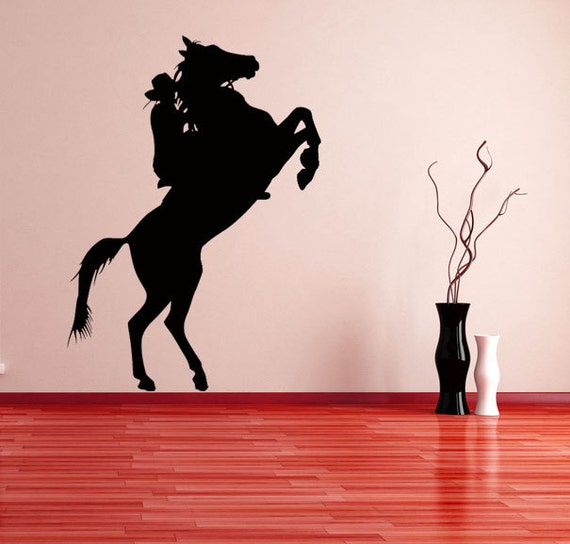 Cowboy & Horse Decal by VinylWallAdornments