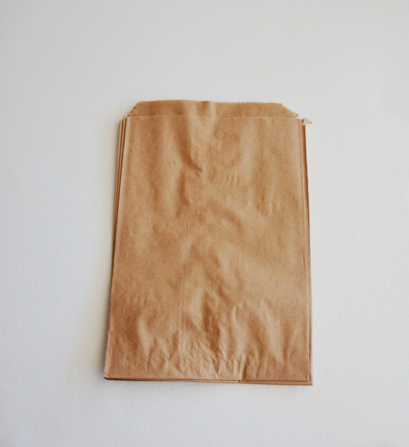 Large flat brown craft paper bag 10 bags for Brown paper craft bags